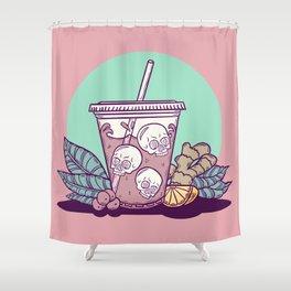 Purple Drank - Teal & Rose Shower Curtain