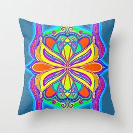 Pop Art Scarab Throw Pillow