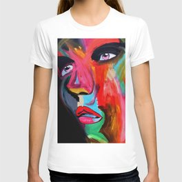Color Bomb Modern Face Art T-shirt