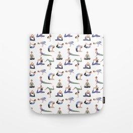 Yoga repeat pattern Tote Bag
