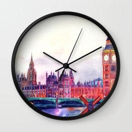 Sunset in London Wall Clock