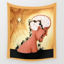 The Brain Mechanics of Repetitive Thinking Wall Tapestry