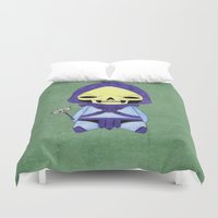 conan Duvet Covers featuring A Boy - Skeletor by Christophe Chiozzi