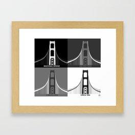 Iconic Mackinac Bridge Art Framed Art Print