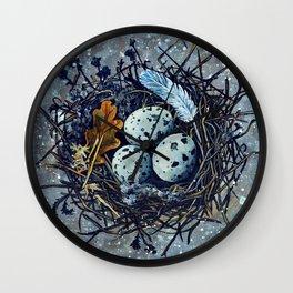 Blue Nest Wall Clock