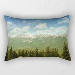 Summer mountain landscape Rectangular Pillow