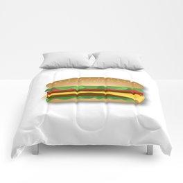 Yummy Cheeseburger Comforters