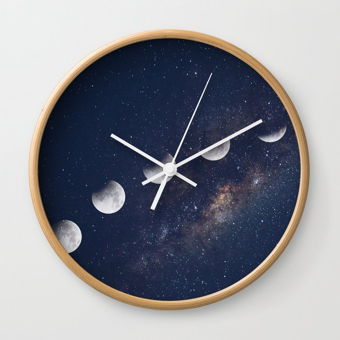 Phases Of The Moon Wall Clock By Blackwinter Society6