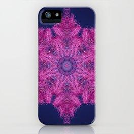 Cotton candy flower mandala iPhone Case