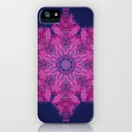 Cotton candy flower mandala iPhone Case