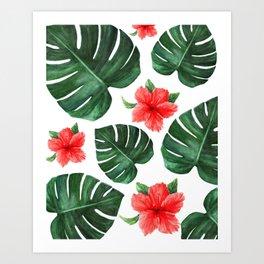 Tropical print Art Print