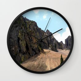 Rocky Crags above the Sunnyside Mill at Eureka Wall Clock
