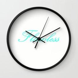 FlaWLESS Aqua Wall Clock