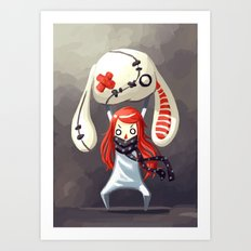 Bunny Plush Art Print