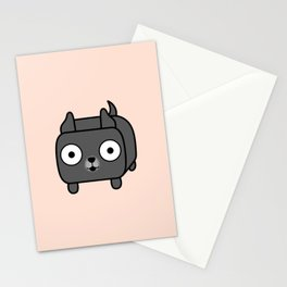 Pitbull Loaf - Blue Pitbull with Cropped Ears Stationery Cards