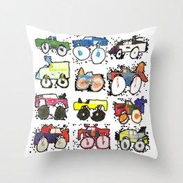 Monster Truck Kid Art by Tucker Throw Pillow