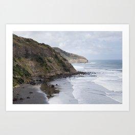 Cliffs of New Zealand Art Print