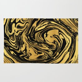 Black and Gold Marble Edition 2 Rug