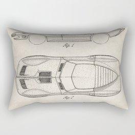 Classic Car Patent - American Car Art - Antique Rectangular Pillow