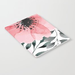 Big Watercolor Flowers Notebook
