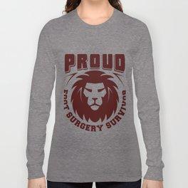 Proud Foot Surgery Survivor Gift Long Sleeve T-shirt