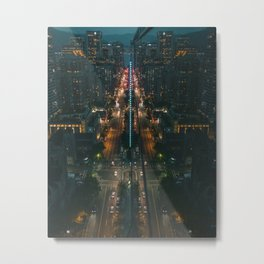 aerial photography of buildings vc Metal Print