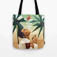 cuba Tote Bags featuring cuba by DesignGeo