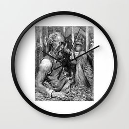Don Quixote print | Quijote by Cervantes - Fine Art products Wall Clock