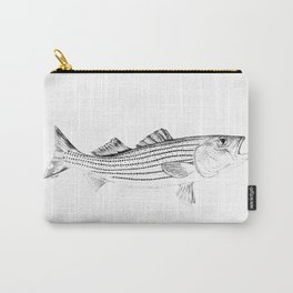 Striped Bass - Pen and Ink Illustration Carry-All Pouch