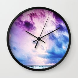 Cloudy shores Wall Clock