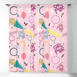 GRL PWR #society6 #pattern #grlpwr Blackout Curtain