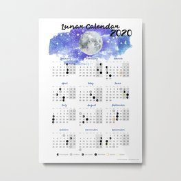 Moon calendar 2020 #10 Metal Print