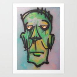 Zombie 3hree Art Print