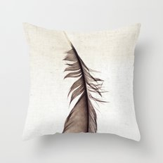 Feather Photograph: Ephemeral Throw Pillow