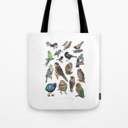 Native NZ Birds Tote Bag
