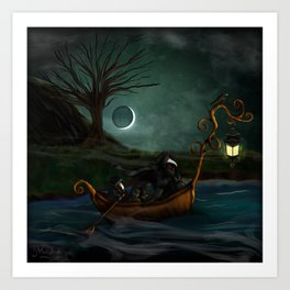 To Poveglia (The Plague Doctor) Art Print