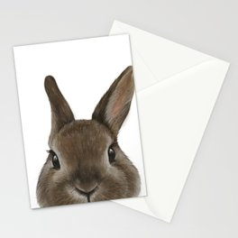 Netherland Dwarf rabbit illustration original painting print Stationery Cards
