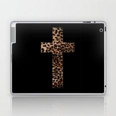 Leopard Cross (Black) Laptop & iPad Skin