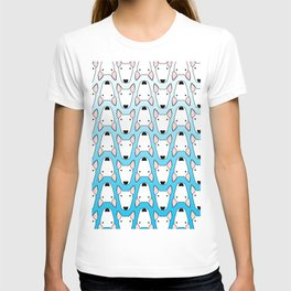 small gridlock duffle blue gradient T-shirt