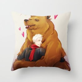 APH: 2pBear hug Throw Pillow