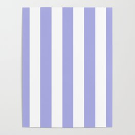 Maximum blue purple - solid color - white vertical lines pattern Poster