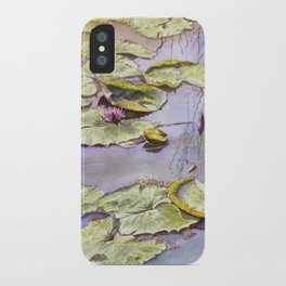 Reflection, watercolor iPhone Case