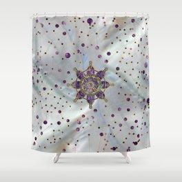 Dharma Wheel  - Dharmachakra Shower Curtain