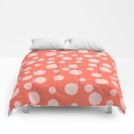 Living Coral Polka Dot Party Comforters