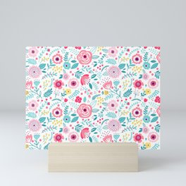 Small Colorful Flowers Mini Art Print