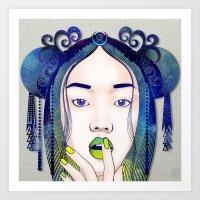 luna Art Prints featuring Luna by Stevyn Llewellyn