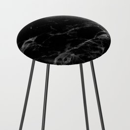Black Marble Counter Stool