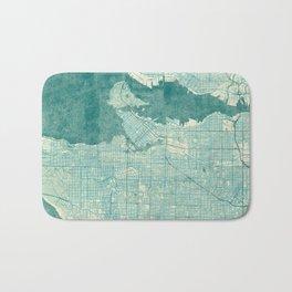 Vancouver Map Blue Vintage Bath Mat