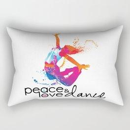 Peace & love Dance Rectangular Pillow