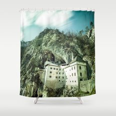 Majestic Predjama Castle Shower Curtain